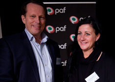 Anders Ingves and Anna-Karin Rybeck (Photo: PAF)